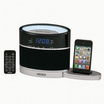 JENSEN JIMS-185I IPHONE(R)/IPOD(R) DOCKING CLOCK RADIO WITH NIGHT LIGHT