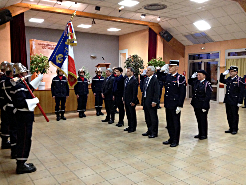 Passation de commandement chez les pompiers de Kerfourn le 25 novembre 2016