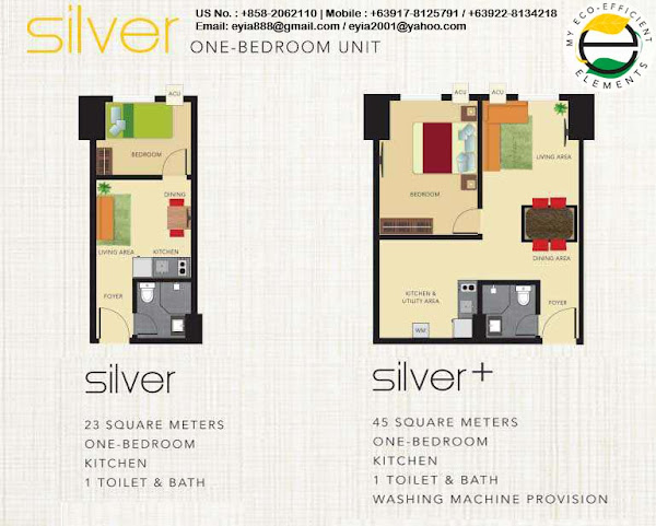 Silver One Bedroom Unit