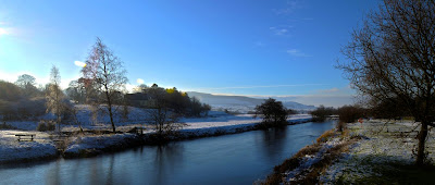 A winter scene of the River Coquet at Rothbury