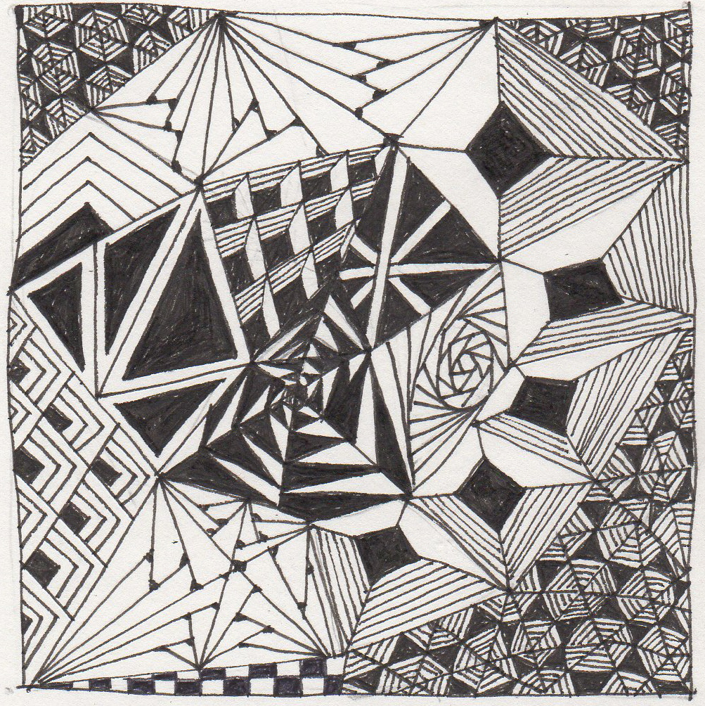 Artwork Using Lines : Banar designs zentangle weekly challenge i ll walk