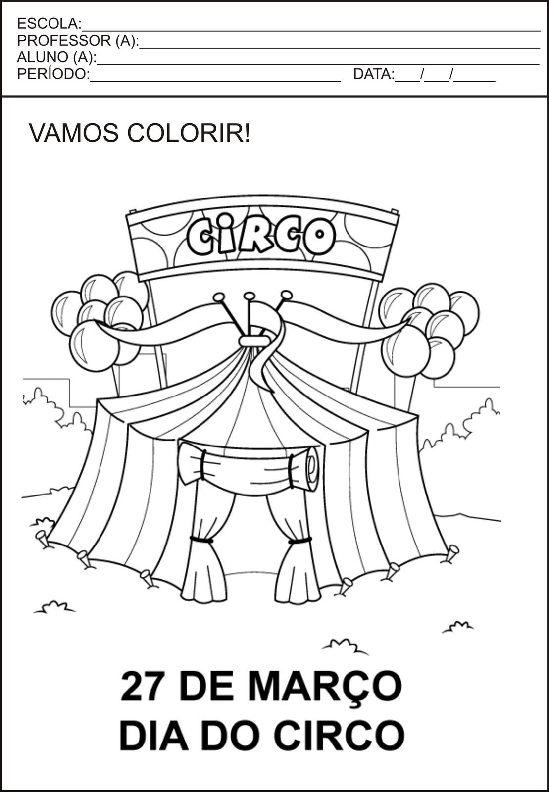 o circo na educação infantil