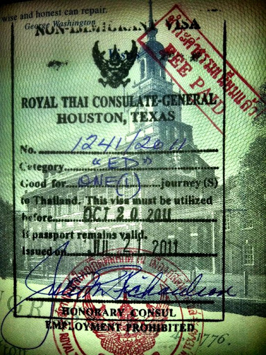 Thai Consulate Visa houston texas