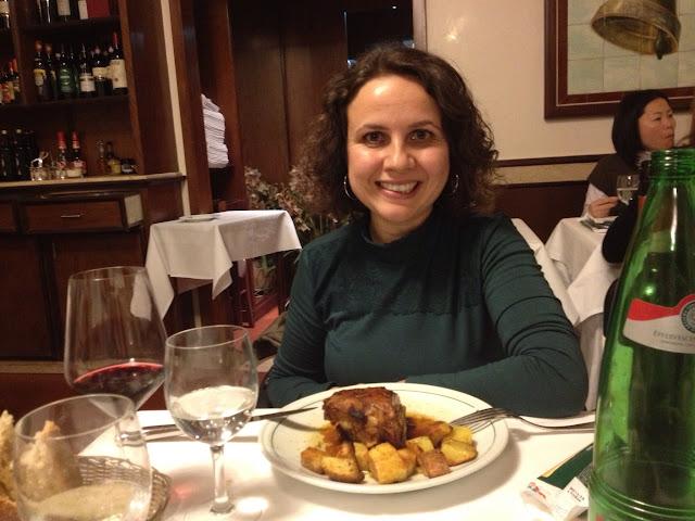 Roma'da yemek yerken