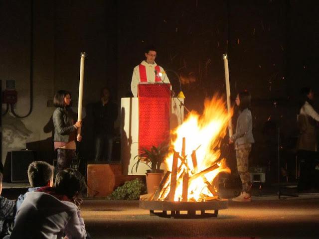 Don Tiziano Rossetto alla veglia di Pantecoste 2013