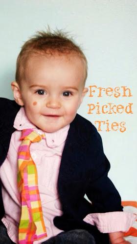 Fresh picked ties, little boy ties, Easter ties, boys ties