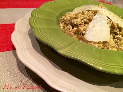 Quinoa profumata con lenticchie