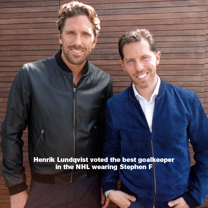 Henrik Lundeqvist Voted Best Goalkeeper...Wearing Stephen F [men's fashion]