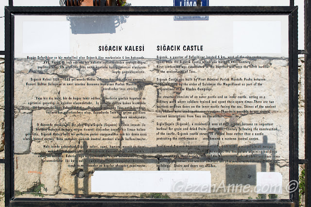 Sığacık kalesinin tarihçesi, Seferihisar