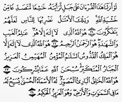 Image result for al hasyr ayat 21 - 24