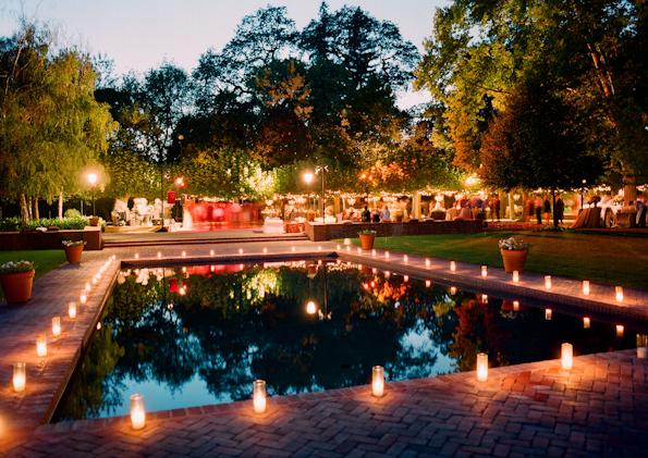Decora o de casamento velas casar f cil o blog da for Garden pool wedding