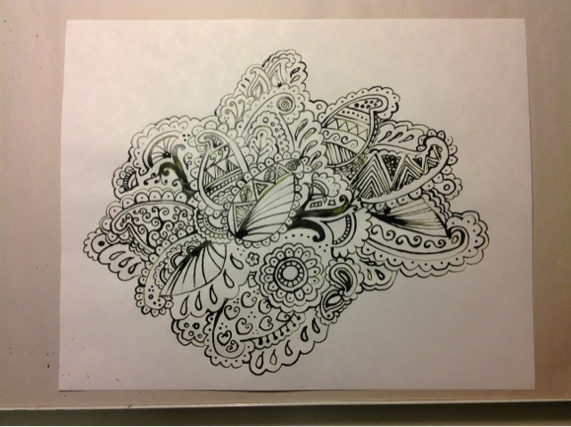 hand drawn paisley design