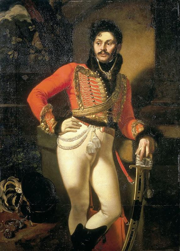 Orest Kiprensky - Portrait of Yevgraf Davydov, 1809