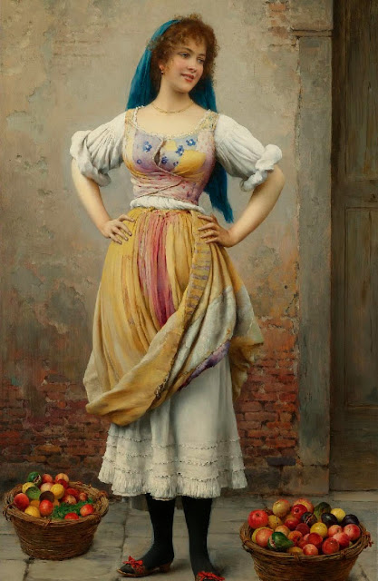Eugene de Blaas - The Market Girl