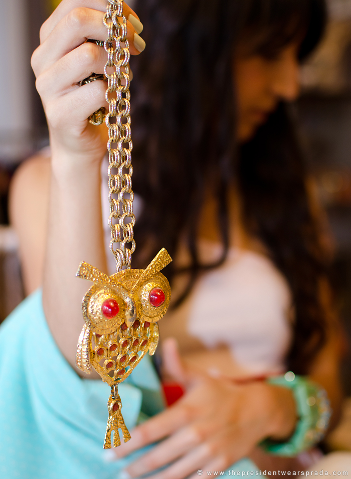 Pretty People Vintage Owl Necklace