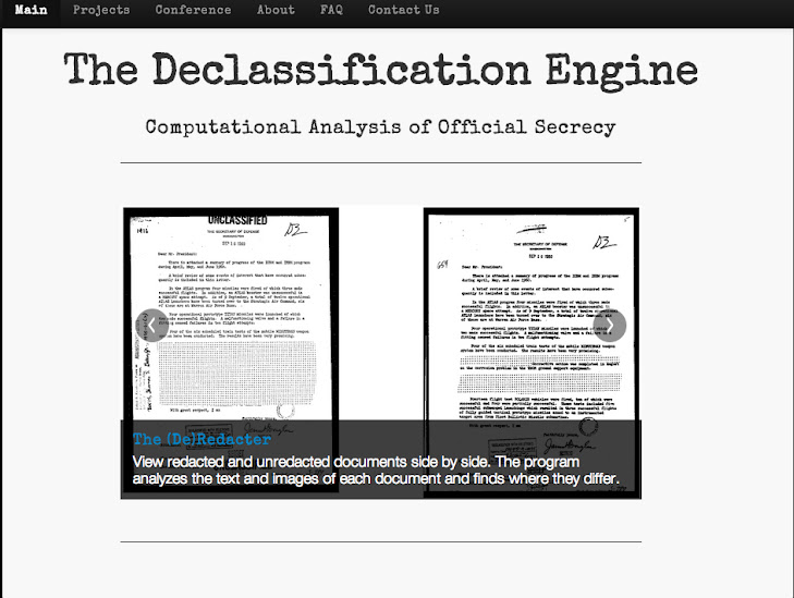 Declassification Engine Homepage