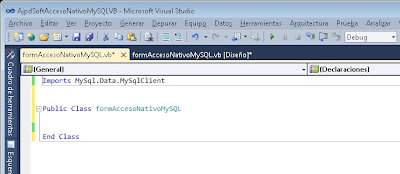 Desarrollar aplicación VB.Net con acceso nativo a MySQL Server mediante Connector/Net