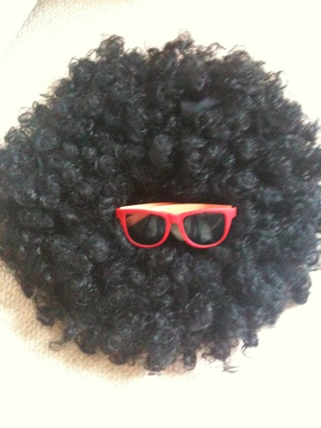 Singing day, Son, School, Afro, Wig