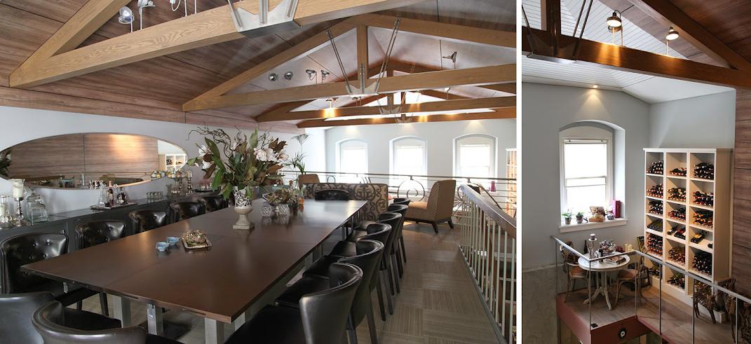 antica locanda large dining room