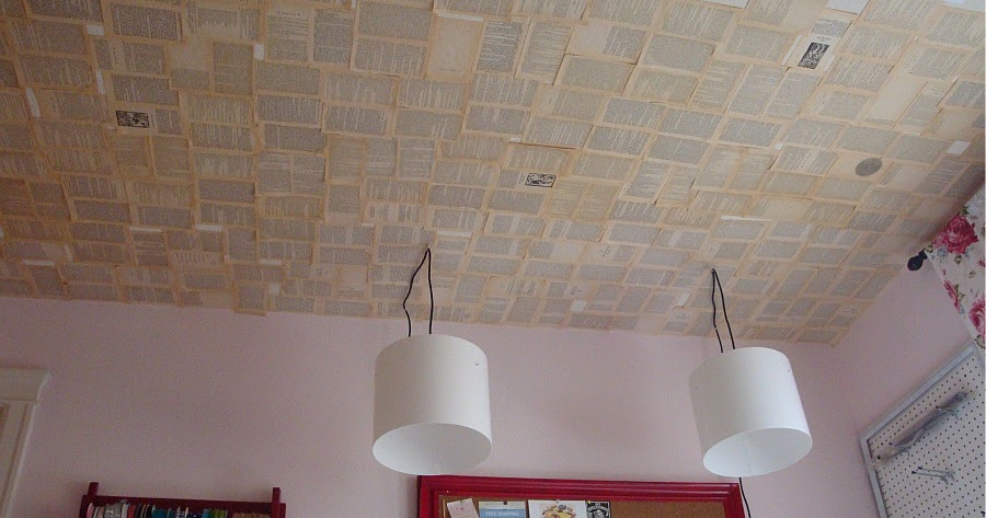 where to start wallpapering a ceiling