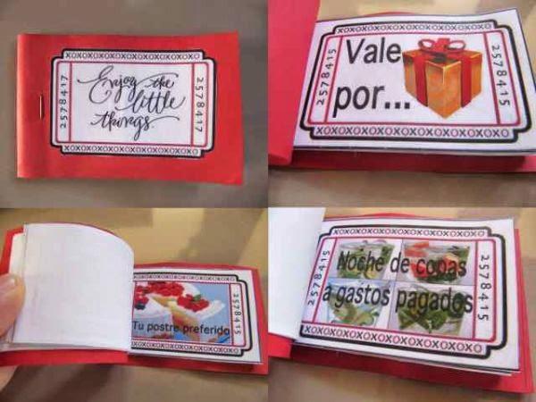 Cupón de vales romántico como regalo para un novio por su onomástico
