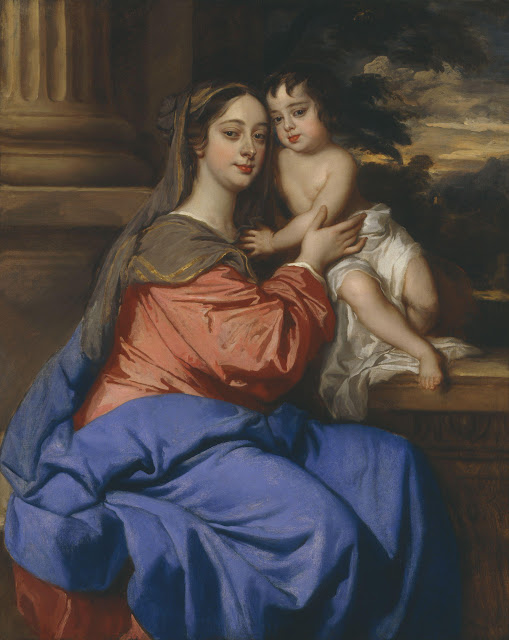Peter Lely - Barbara Palmer (née Villiers), Duchess of Cleveland with her son, Charles Fitzroy, as Madonna and Child