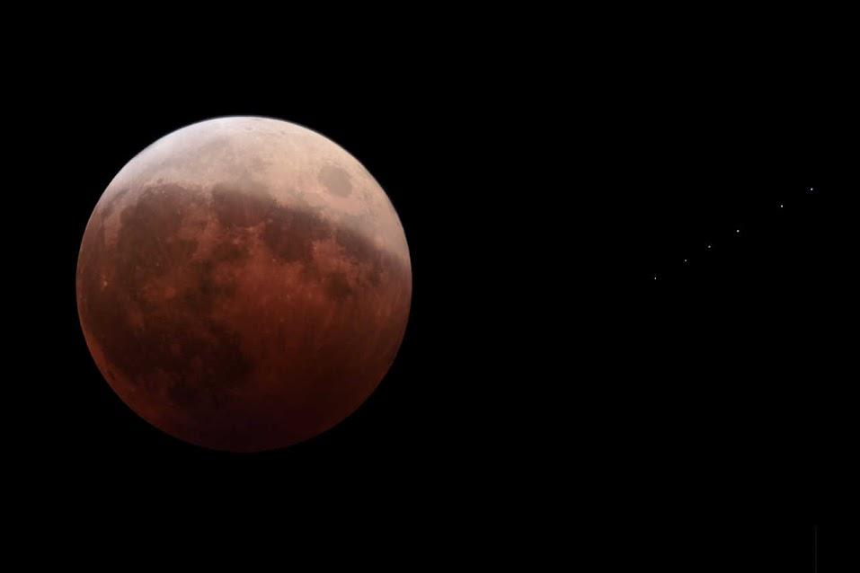 皆既月食観望記2014
