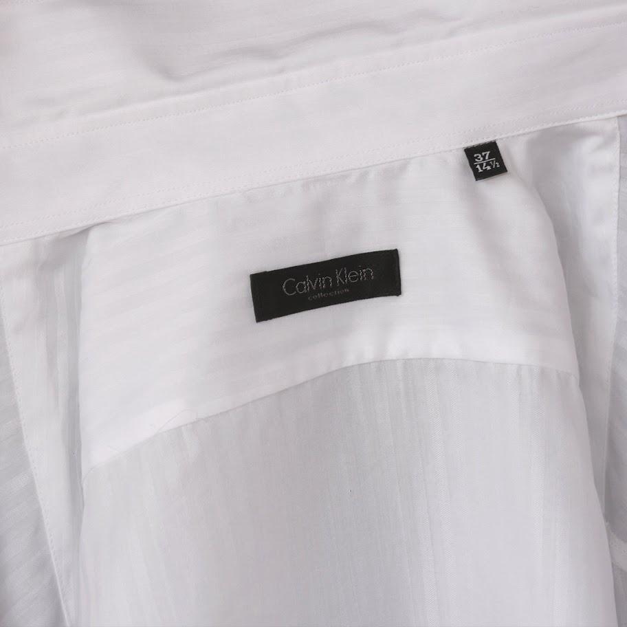 Camasa Calvin Klein Collection, model Slim Fit, pe alb