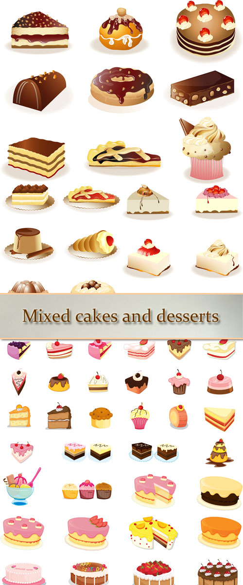 Stock: Mixed cakes and desserts