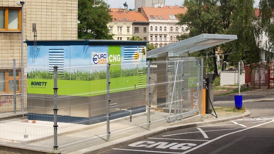 Praga, Zizkovice. To już 7 stacja CNG w stolicy Czeskiej Republiki!