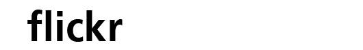 Frutiger Bold font logo flickr