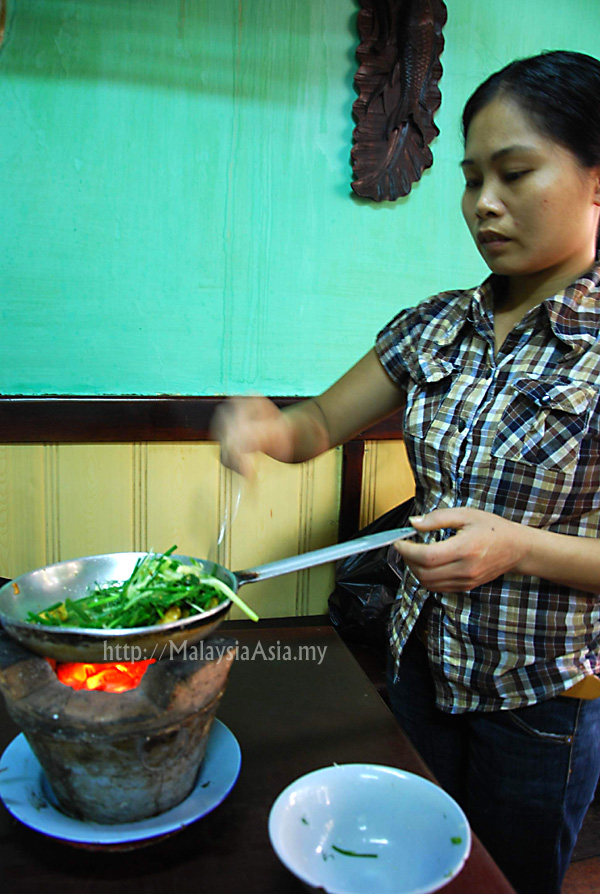 Cooking at Cha Ca La Vong