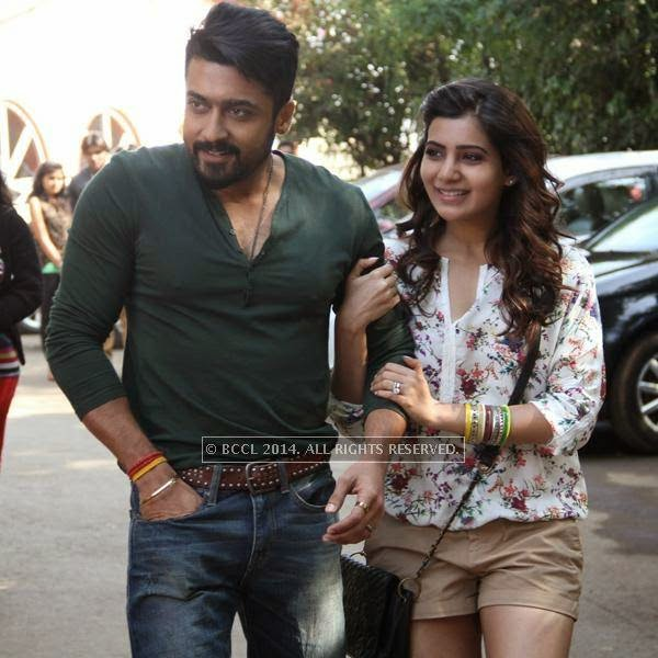Suriya and Samantha Ruth Prabhu in a still from the movie, Anjaan.