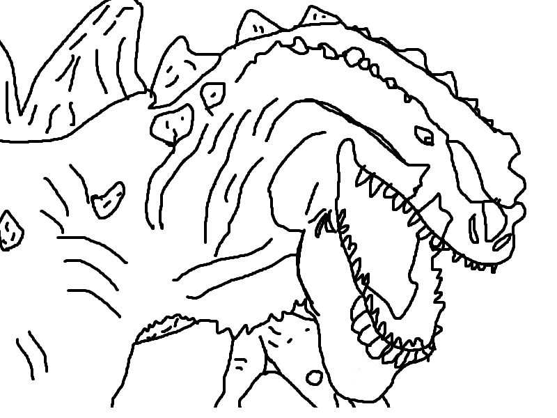 show me more godzilla 1998 colouring pages