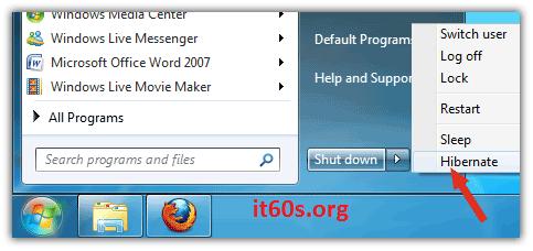 Bạn có biết kích hoạt chức năng Hibernate trong Windows 7 2