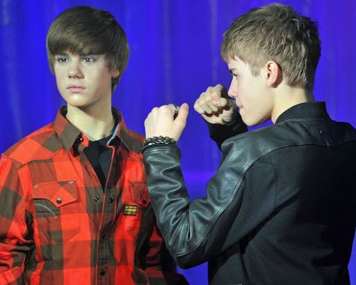 justin bieber wax figure ny. Bieber#39;s wax figure was