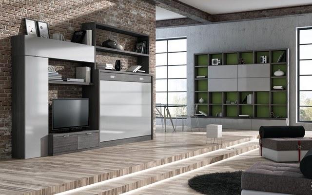 En esta fotografia podemos ver un salon donde se ha - Muebles de salon para pequenos espacios ...
