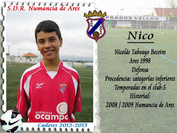 ADR Numancia de Ares. Nico.