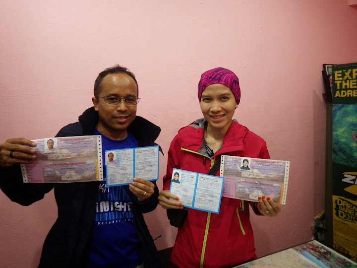 Our TIMS & ACAP permits. Without the permits, one can't do trekking in Annapurna trek. ACAP = RS 2,000... TIMS =  USD 20