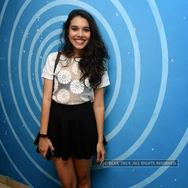Tanisha is all smiles during a party organised at Small World pub in Chennai.