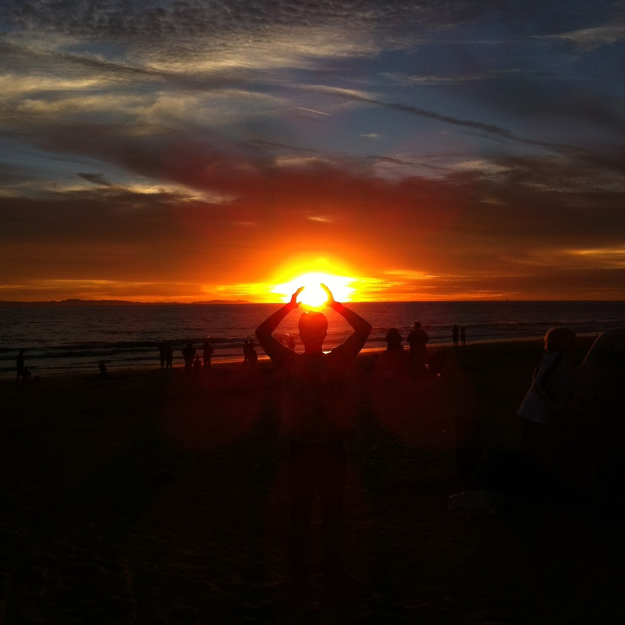 Edmund with sunset