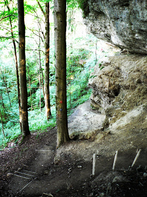 Abstiegsweg zum Hinanger Wassefall