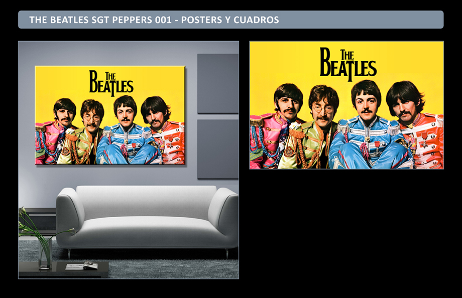 The Beatles Posters Adhesivos Gigantes - Cuadros The Beatles Sargent Peppers - Arteygraficadigital