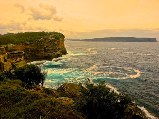 Surging sea around the Gap. From Walking Sydney: North Bondi to South Head