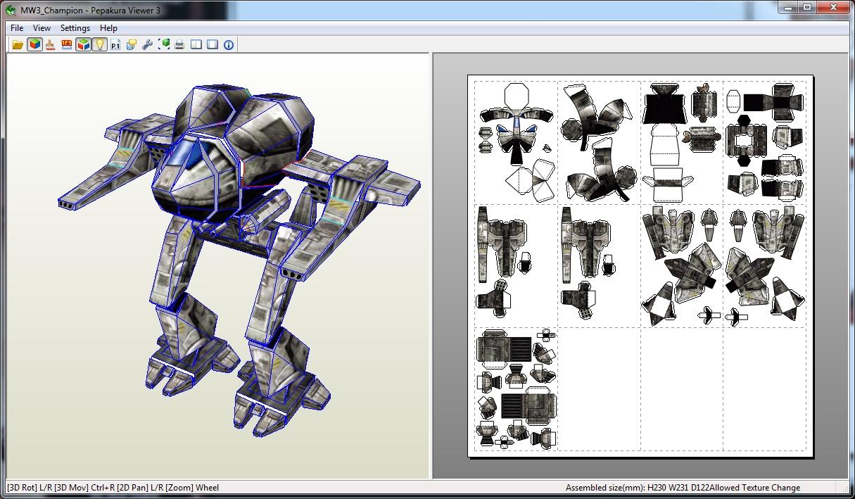 Paper mech models! Click, print, fold, and glue!