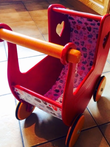 Moover broken wooden toy pram repair - Sugru #wllm14