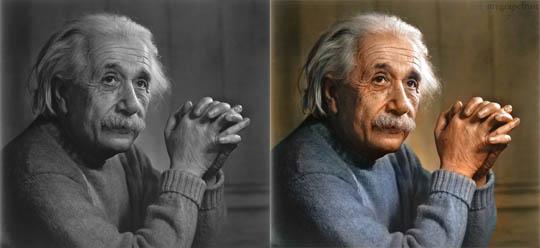 Алберт Айнщайн - Най-известните исторически черно-бели фотографии в цвят