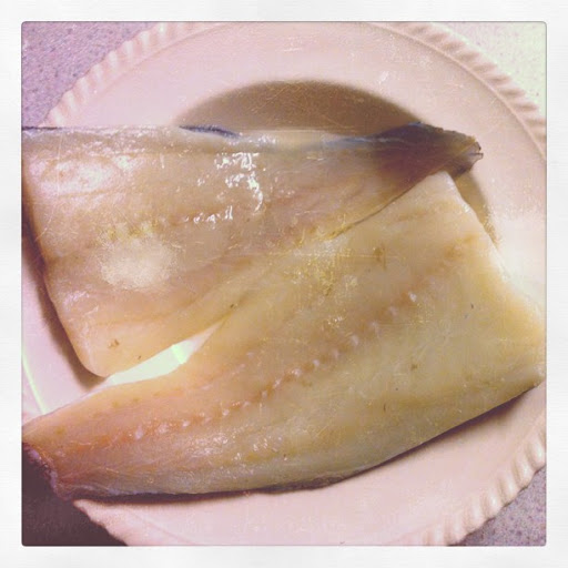 fresh haddock ready to be battered