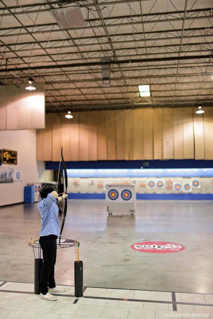 Archery Lessons at Impact Archery Las Vegas.