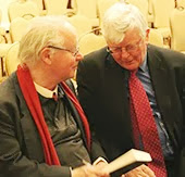Irish Poet Brendan Kennelly from Trinity College Dublin and Seamus Hosey from RTE
